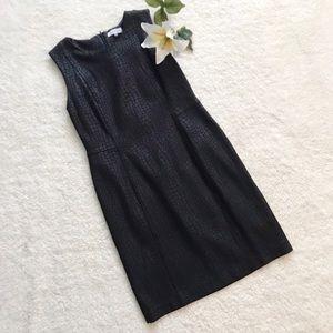 Calvin Klein Animal Print Black Sheath Dress E31